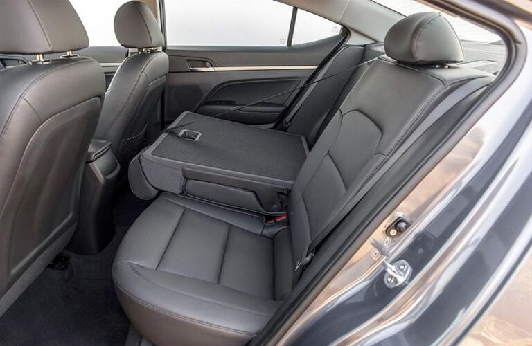 Rear seating in the 2019 Hyundai Elantra