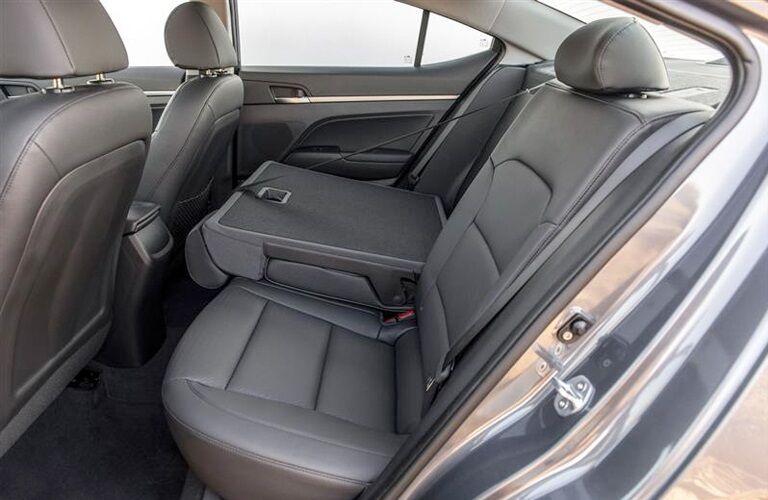 Rear seats in the 2019 Hyundai Elantra