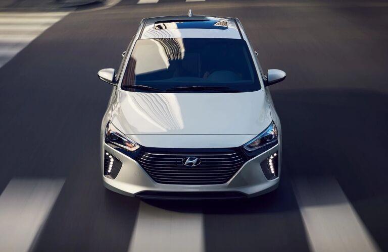 Front overhead view of the 2019 Hyundai Ioniq