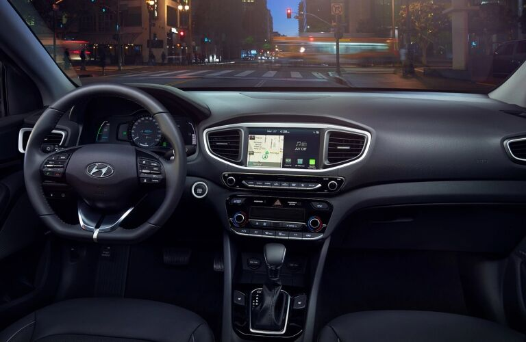 Cockpit view in the 2019 Hyundai Ioniq