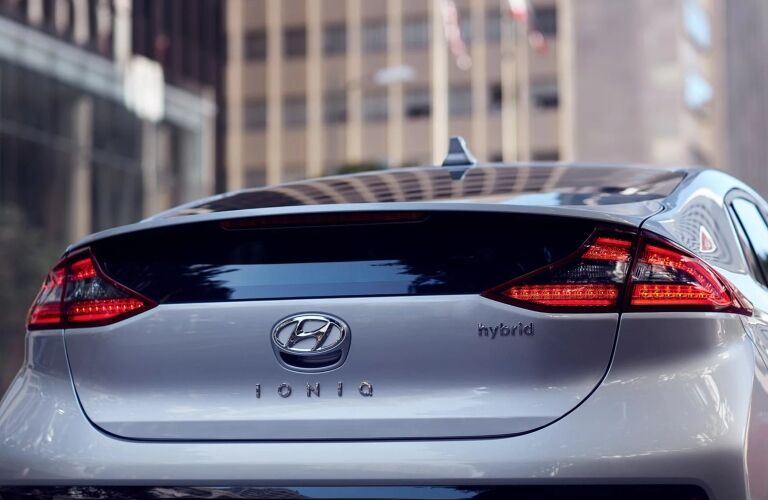 Rear view of the 2019 Hyundai Ioniq