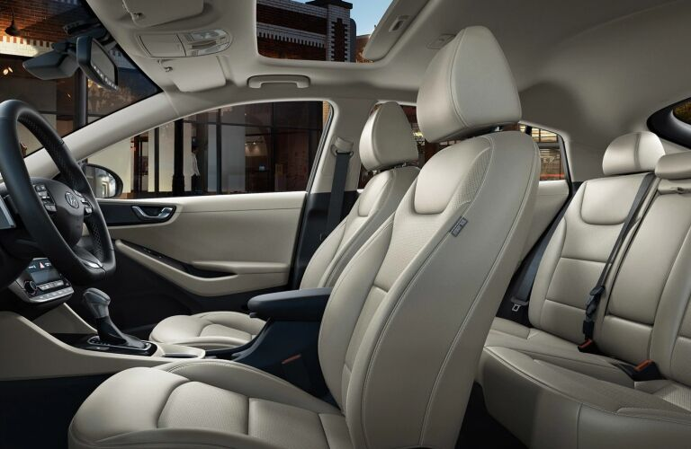 Interior seating in the 2019 Hyundai Ioniq