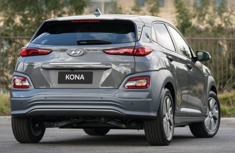 Rear view of a 2019 Hyundai Kona Electric