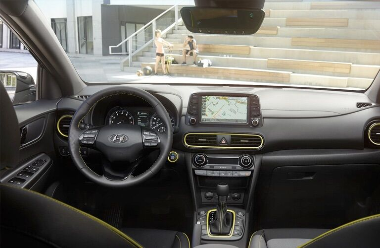 Cockpit view in the 2019 Hyundai Kona