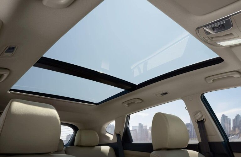 Available sunroof in the 2019 Hyundai Tucson