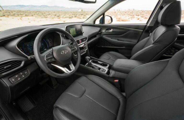 Front seats of the 2019 Hyundai Santa Fe