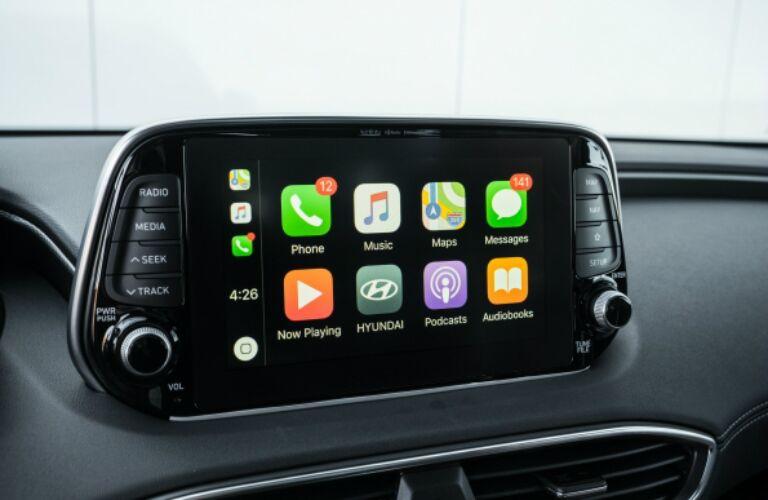 Infotainment system in the 2019 Hyundai Santa Fe