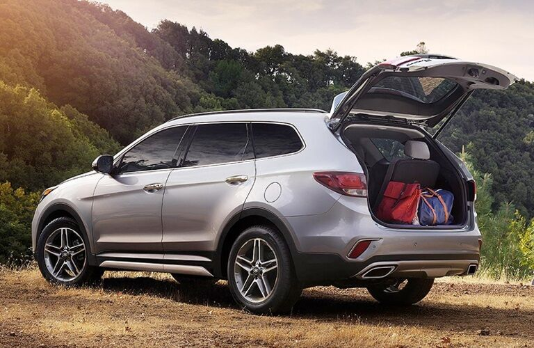 2019 Hyundai Santa Fe XL with its trunk open