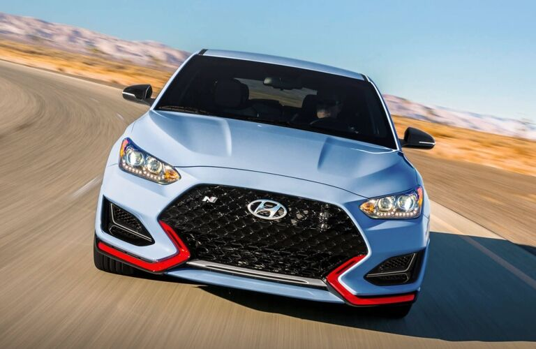 Front view of a 2019 Hyundai Veloster N