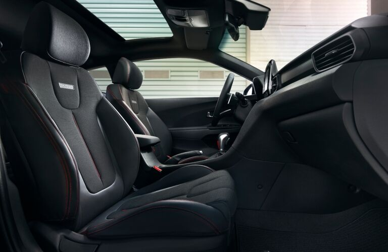 Front seats of the 2019 Hyundai Veloster