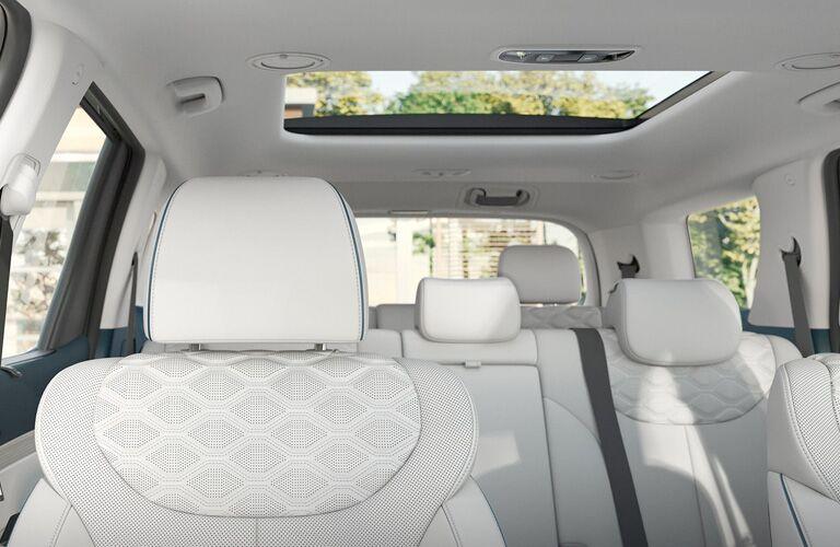 2020 Hyundai Palisade interior passenger seats and sunroof
