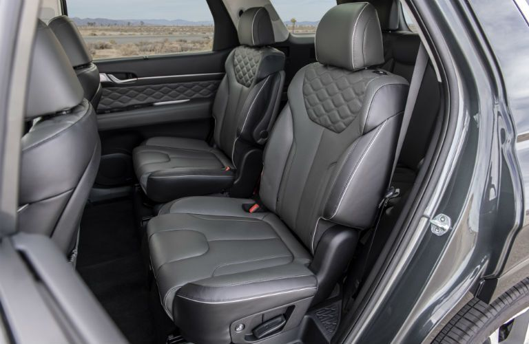 Second row of seats inside 2020 Hyundai Palisade