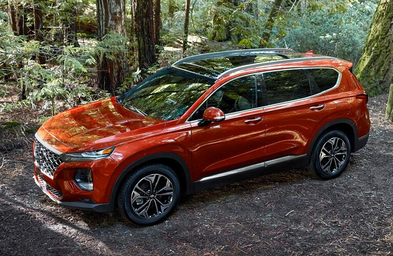 2020 Nissan Rogue on wooded trail