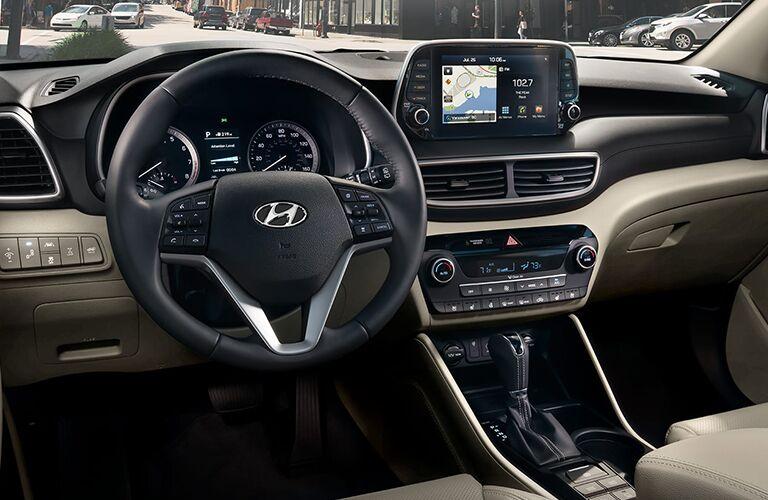 2020 Hyundai Tucson Steering Wheel and Dashboard