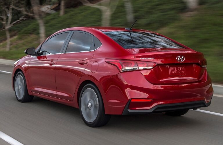 2020 Hyundai Accent Driving Away