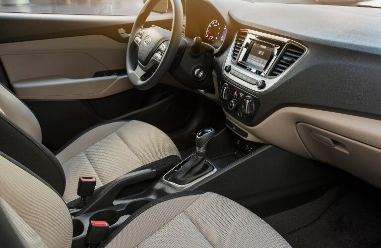 2020 Hyundai Accent front seats and dashboard