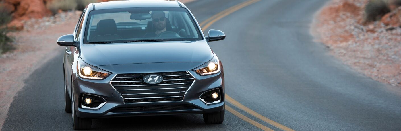 2020 Hyundai Accent on Bending Road
