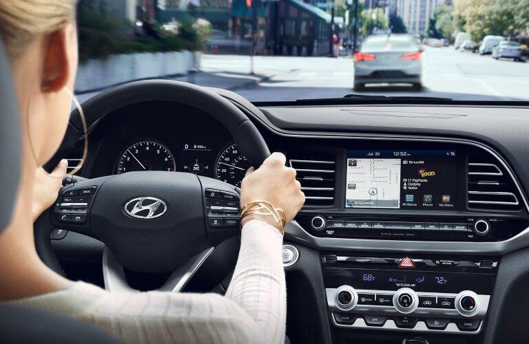 Woman driving the 2020 Hyundai Elantra