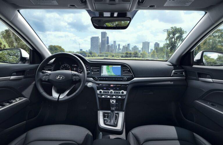 Cockpit view in the 2020 Hyundai Elantra