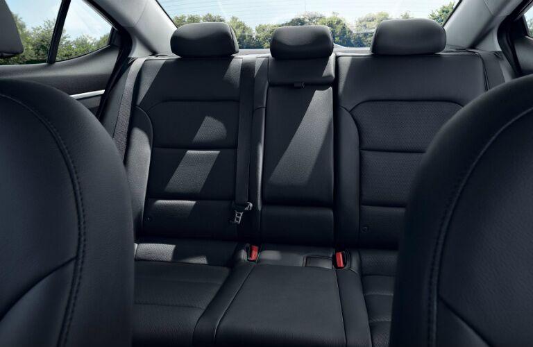 Rear seats in the 2020 Hyundai Elantra