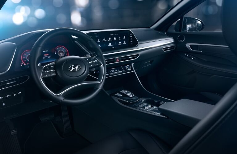 Front seat interior in the 2020 Hyundai Sonata
