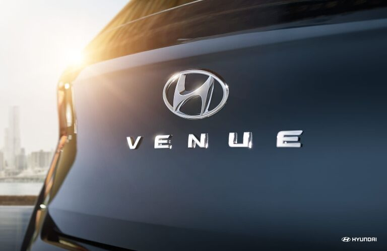 Venue badge on the back of the 2020 Hyundai Venue