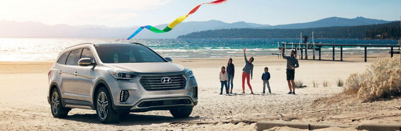 A photo of the 2019 Hyundai Santa Fe XL at the beach.