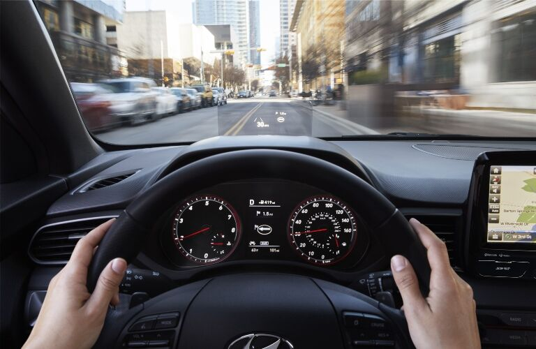 Behind the wheel of a 2020 Hyundai Veloster