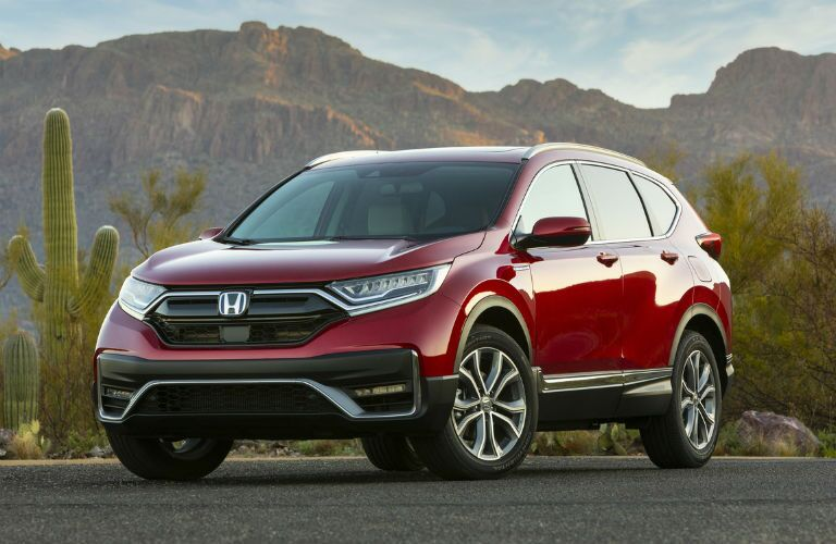 Red 2020 Honda CR-V Hybrid
