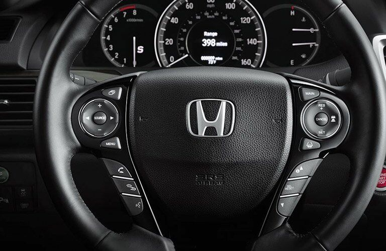 steering wheel of the 2017 Honda Accord Sport sedan