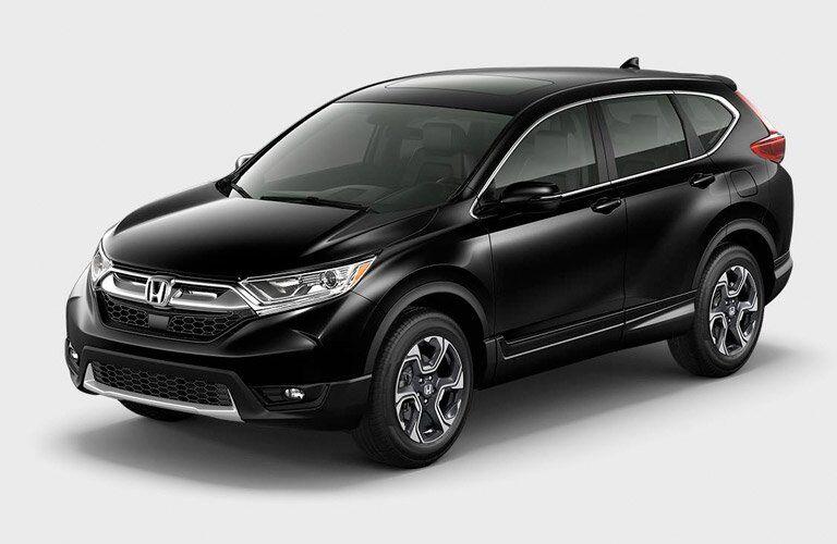 black 2017 Honda CR-V EX against a vague grey background