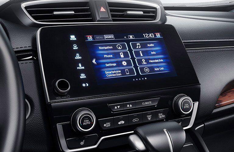 infotainment screen in the 2017 Honda CR-V EX