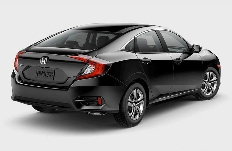 side and rear view of the 2017 Honda Civic Sedan LX