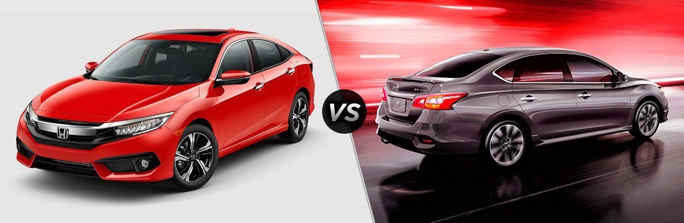 2017 Honda Civic vs 2017 Nissan Sentra