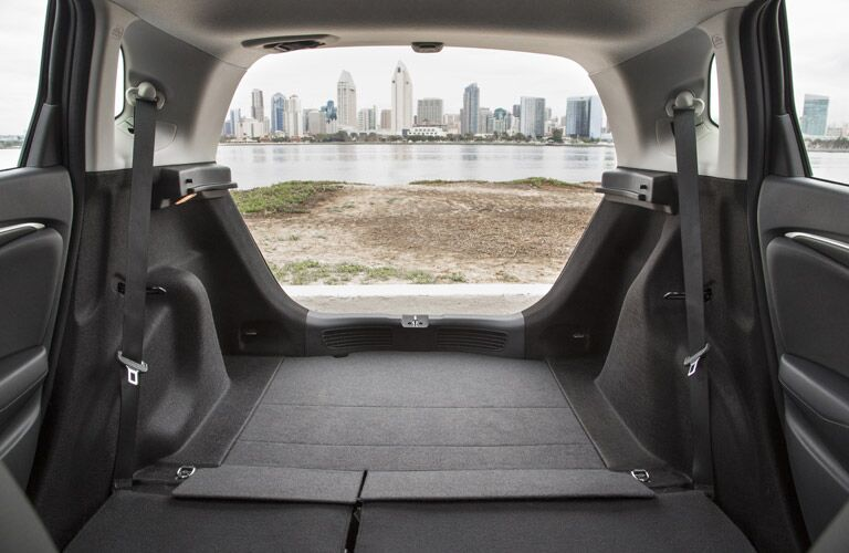 rear cargo space of the 2017 Honda Fit
