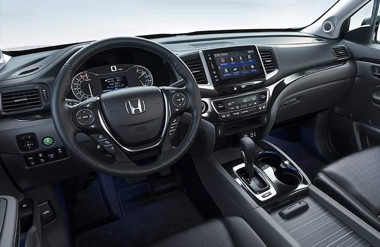 steering wheel and dashboard of the 2017 Honda Ridgeline
