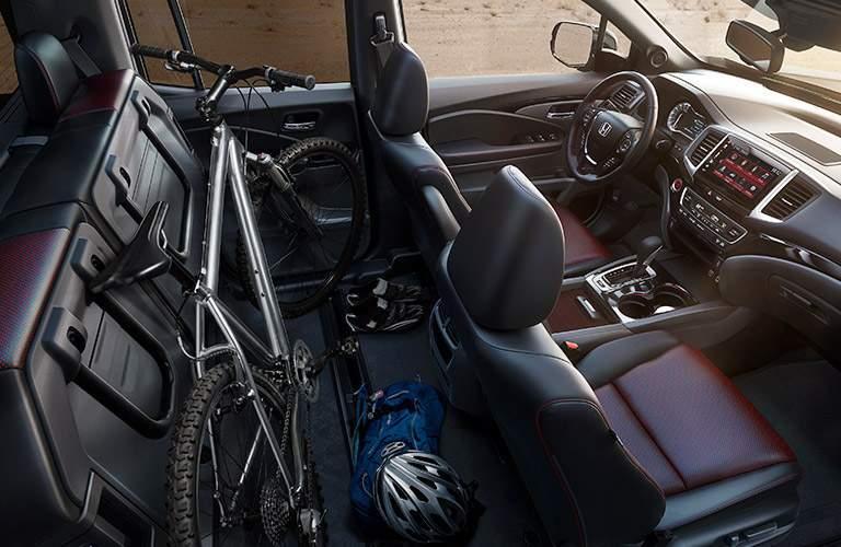 interior seating and cargo of the 2017 Honda Ridgeline RT