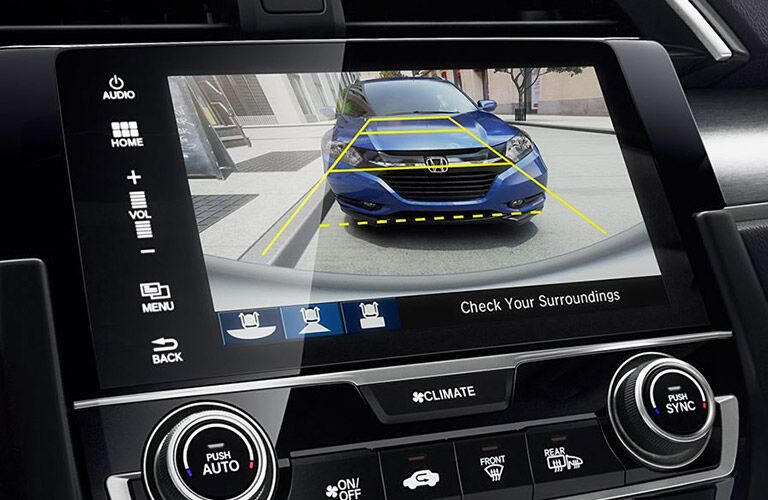 rearview camera view on the 2017 Honda Civic Sedan LX