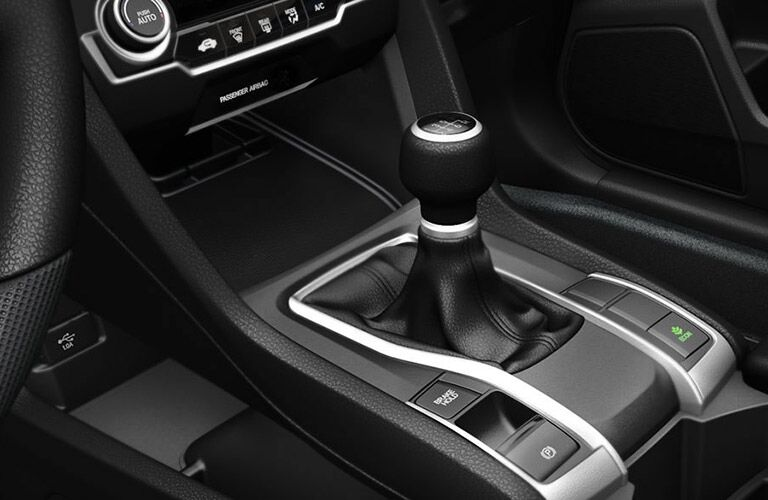 central gear shifter in the 2017 Honda Civic Sedan LX