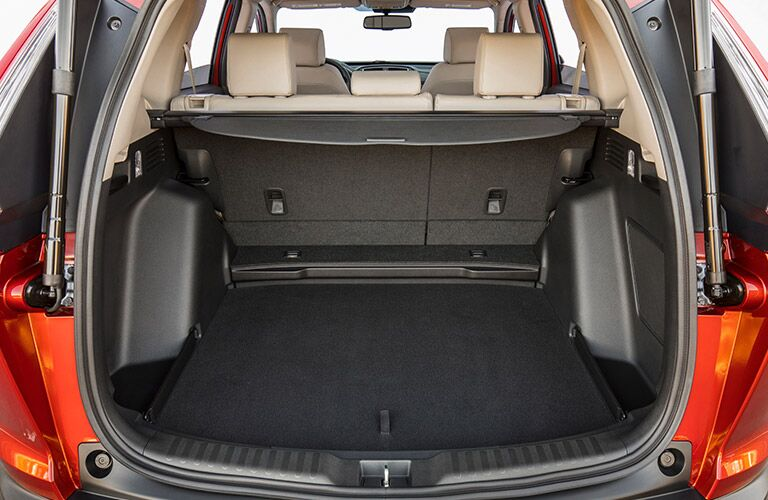 spacious cargo area of the 2017 Honda CR-V LX