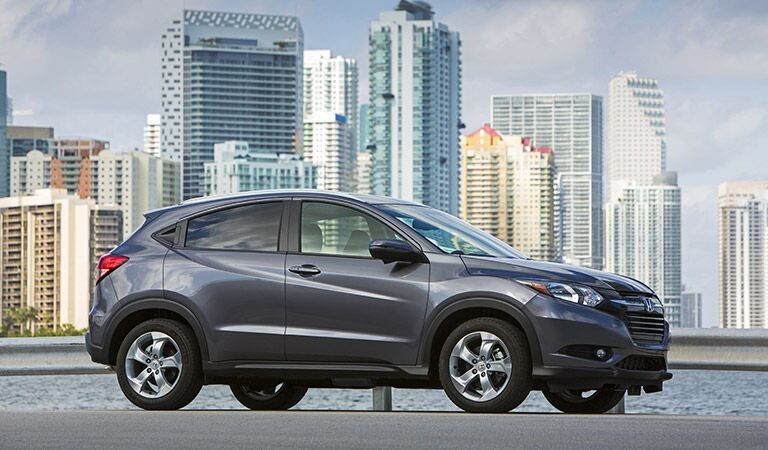 2017 Honda HR-V SUV in front of a city