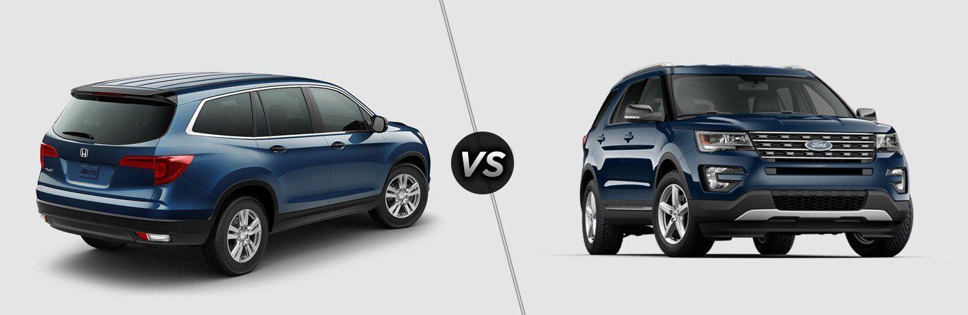 2017 Honda Pilot vs 2017 Ford Explorer