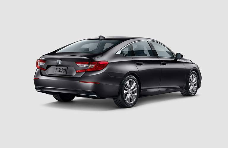 rear view of the 2018 Honda Accord sedan on a grey background