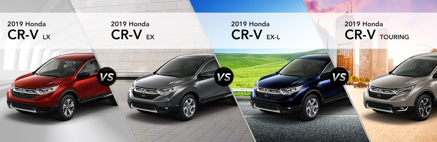 2019 Honda CR-V exterior front fascia and driver side trim comparison