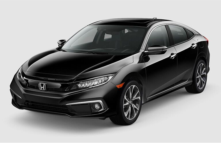 2019 Honda Civic Sedan exterior front fascia and driver side on blank space