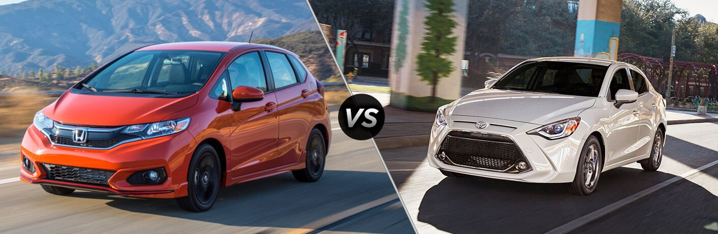 2019 Honda Fit vs 2019 Toyota Yaris comparison image