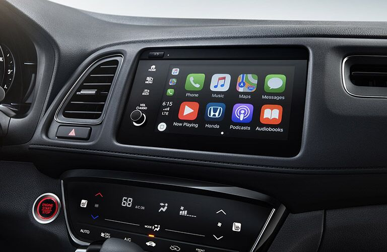 2019 Honda HR-V interior front cabin close up of touchscreen display
