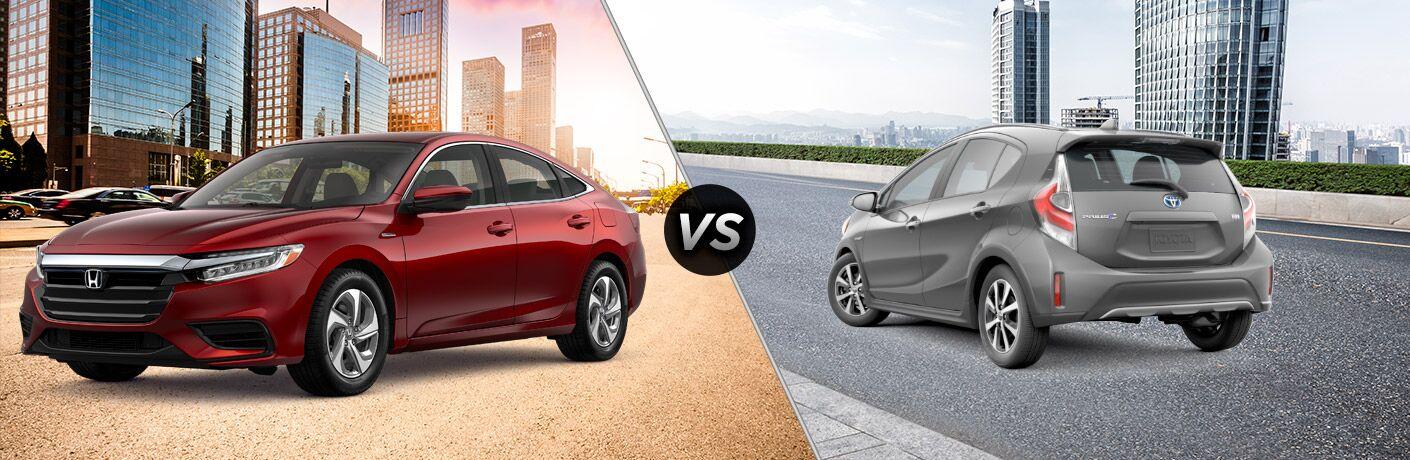2019 Honda Insight vs 2019 Toyota Prius c comparison image
