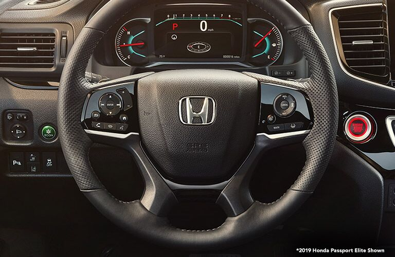 Steering wheel in 2019 Honda Passport Elite