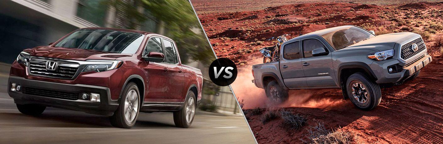 2019 Honda Ridgeline vs 2019 Toyota Tacoma comparison image
